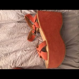 Free people platforms! Only worn once!!